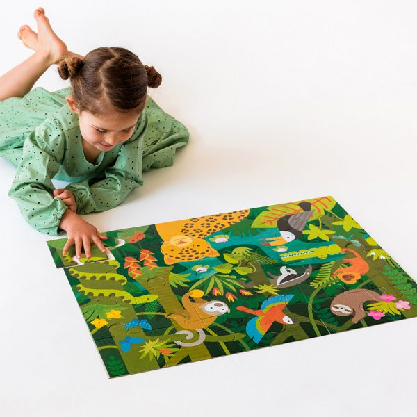 Petit Collage Floor Puzzle - Wild Rainforest Lifestyle