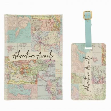 Vintage Passport Cover & Luggage Tag Set