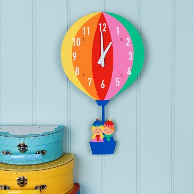 Hot Air Balloon Wooden Clock Lifestyle