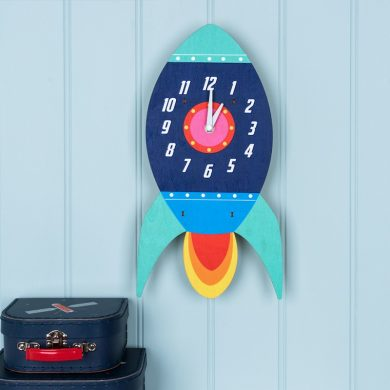 Spaceship Wooden Wall Clock Lifestyle