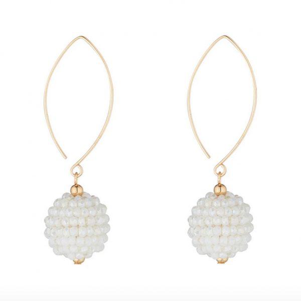 MoMuse White Earrings