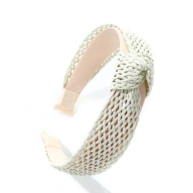 white bamboo hairband