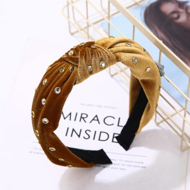 Tan Velvet Hairband