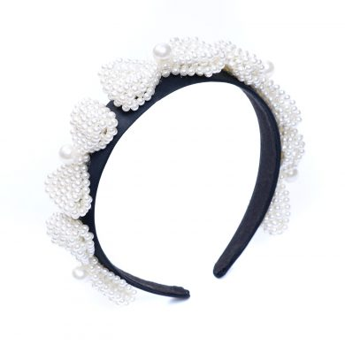 pearl bow hairband