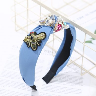 blue bee hairband
