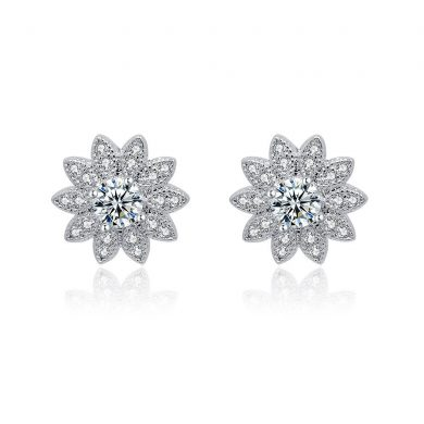 crystal Sunflower earrings