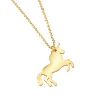 golden unicorn pendant