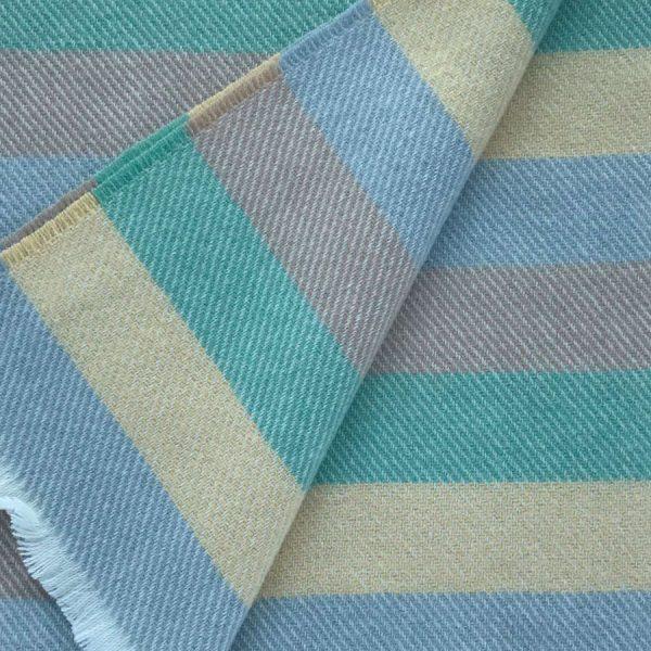 Cushendale Lemon Stripe Baby Blanket Close-up