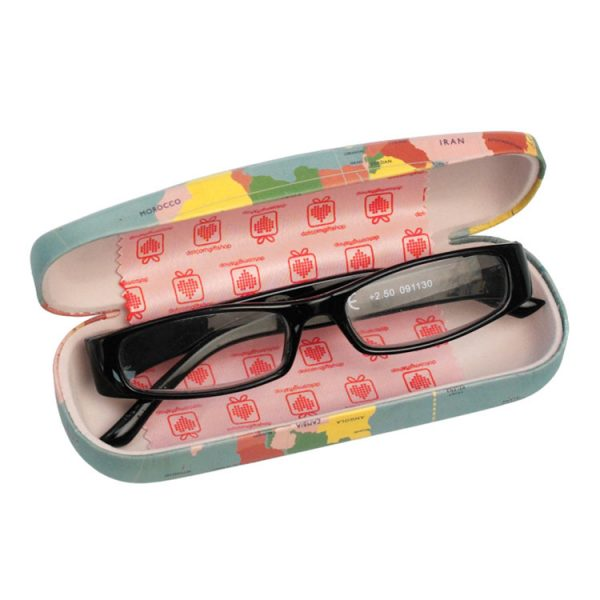 world map glasses