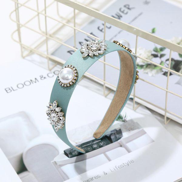 blue jewel hairband