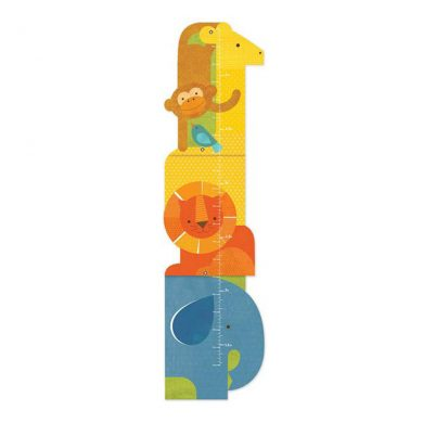 Animal Tower Folding Growth Chart
