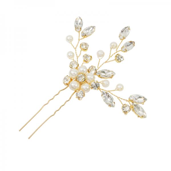 gold hair pin bridal