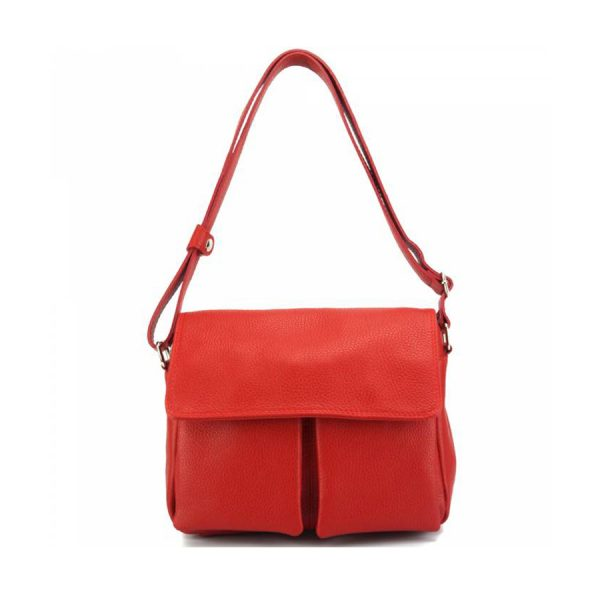 Florence Leather Handbag Red