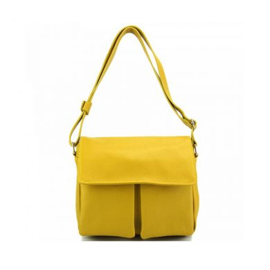 Florence Leather Handbag Yellow