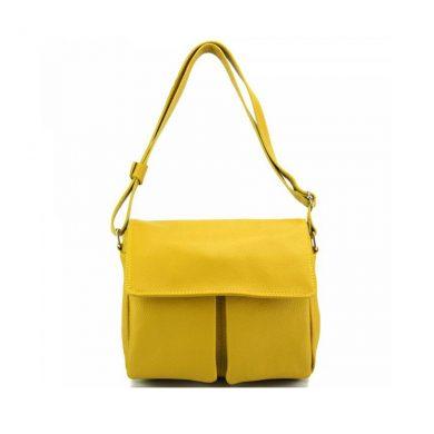 Florence Leather Handbag Yellow