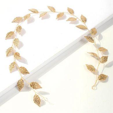Gold leaf hair vine