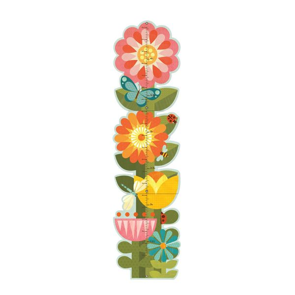 Garden Flowers Folding Growth Chart