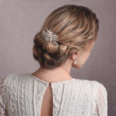 Silver bridal hair pin