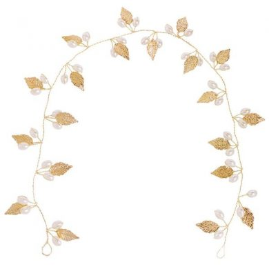 gold leaf hair vine