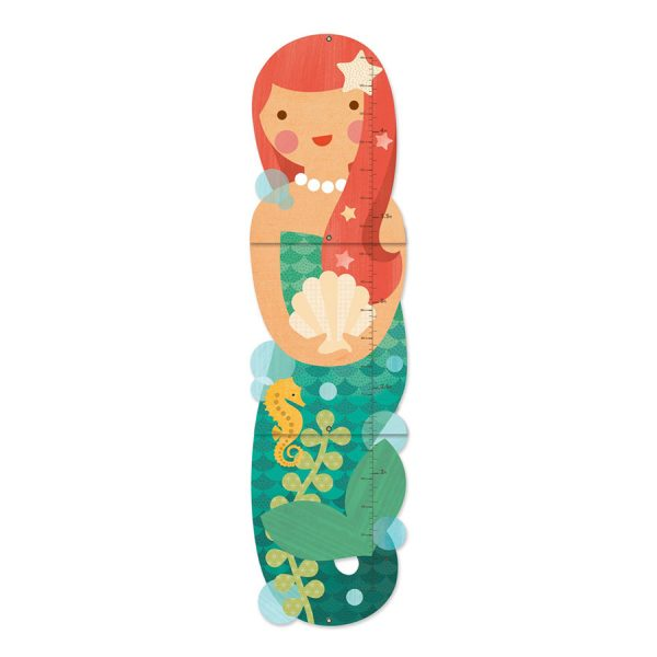 Little Miss Mermaid Folding Growth Chart