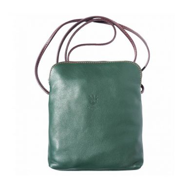 Naples Leather Crossbody Green