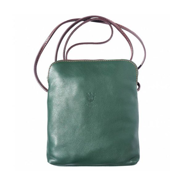Naples Leather Crossbody Green
