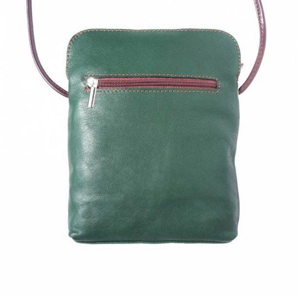 Naples Leather Crossbody Green Reverse