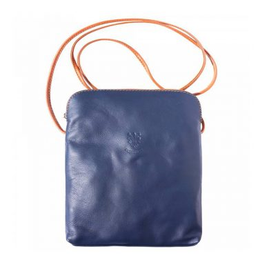 Naples Leather Crossbody Navy