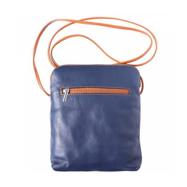 Naples Leather Crossbody Navy Reverse