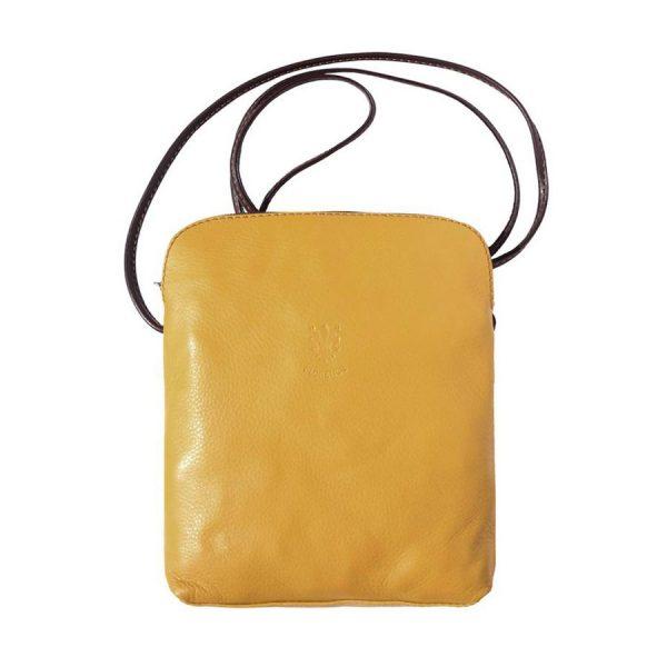 Naples Leather Crossbody Yellow