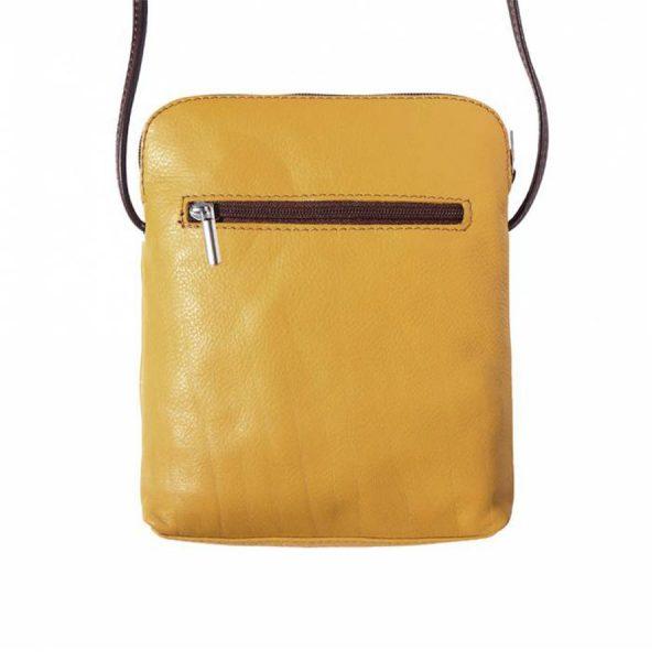 Naples Leather Crossbody Yellow Reverse