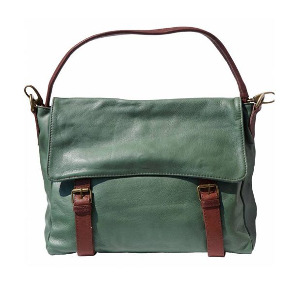 Siena Leather Satchel Green