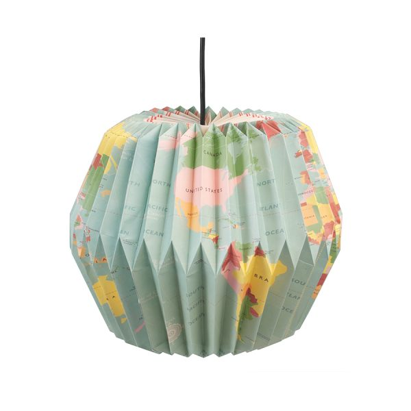 World Map Lampshade