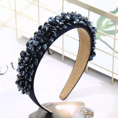 Navy Jewelled hairband