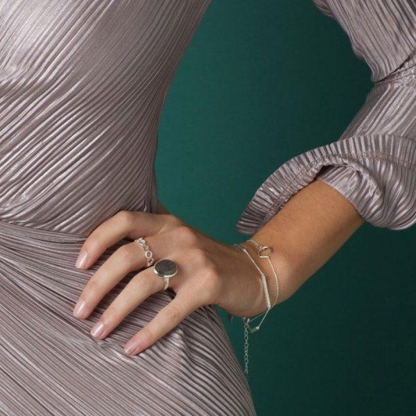 Juvi Silver Causeway Bracelet Lifestyle