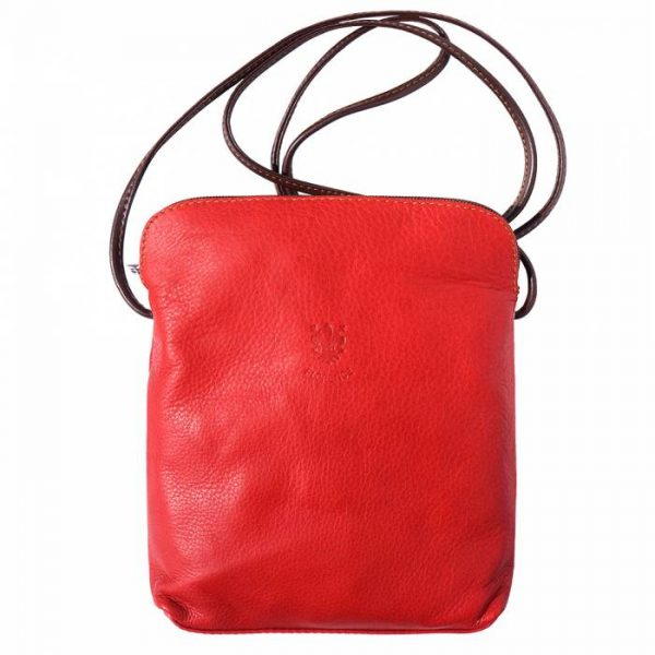 Naples Leather Crossbody Red