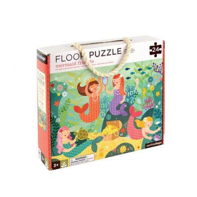 Petit Collage Floor Puzzle - Mermaid Friends