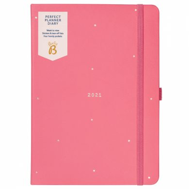 Busy B 2021 Coral Faux Perfect Planner