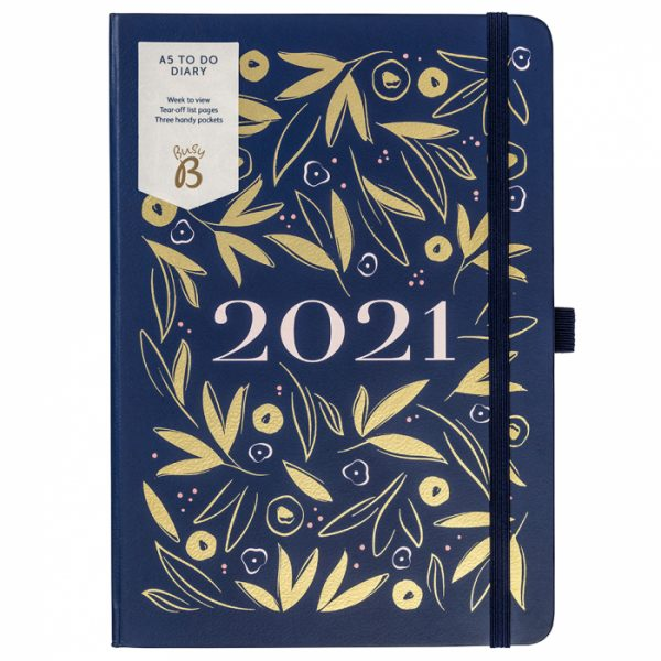 Busy B A5 Navy To-Do Diary 2021