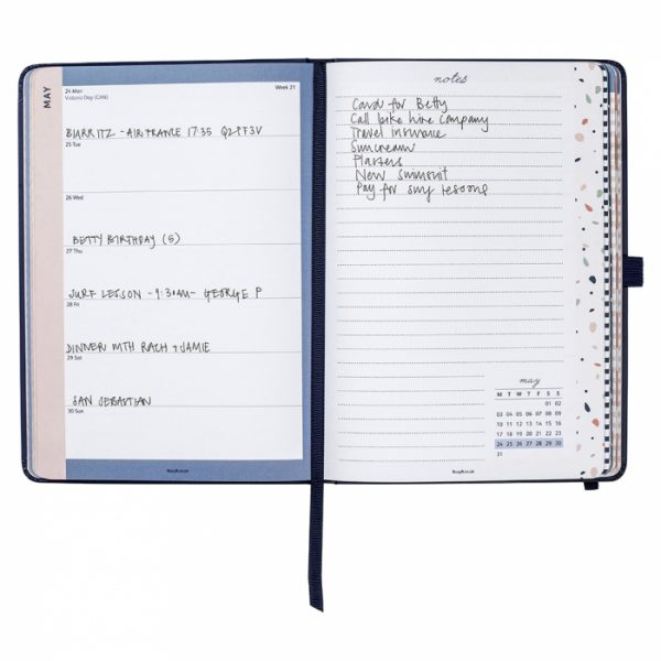 Busy B A5 Navy To-Do Diary 2021 Inside