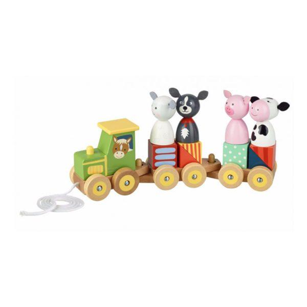 Farm Animals Puzzle Train