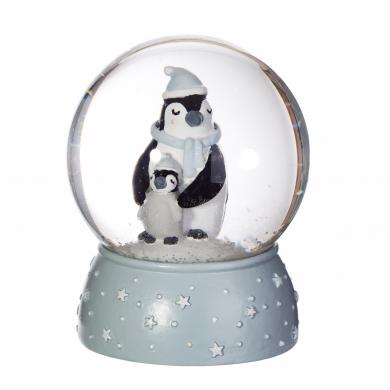 Mum & Baby Penguin Snow Globe