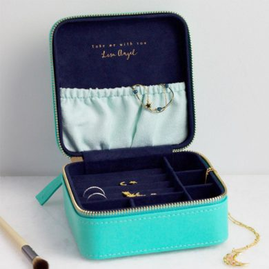 Turquoise Travel Jewellery Box
