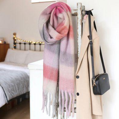 Pink Blanket Scarf