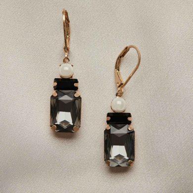 Jet Deco Earrings