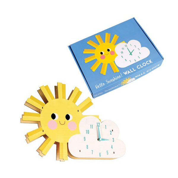 Hello Sunshine Wooden Wall Clock Box