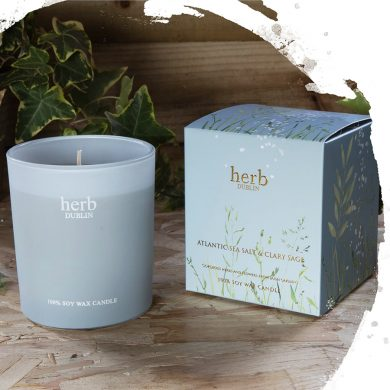 Herb Dublin Atlantic Sea Salt Boxed Candle