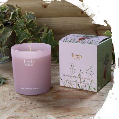 Herb Dublin Rhubarb Boxed Candle
