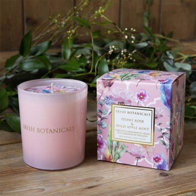 Irish Botanicals Peony & Wild Apple Mint Candle