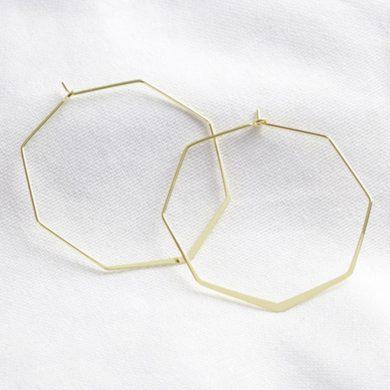 Lisa Angel Gold Hexagon Hoops